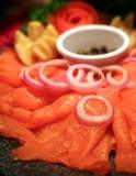Smoked Salmon Platter Royalty Free Stock Image