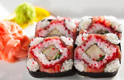 Smoked Salmon Roll Royalty Free Stock Images