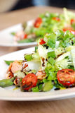 Smoked salmon salad Stock Image