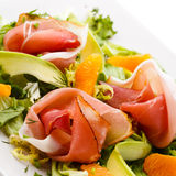 Smoked salmon salad Stock Images