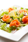 Smoked salmon salad Stock Photos