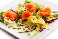 Smoked salmon salad Stock Images