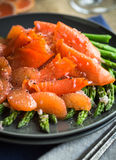 Smoked Salmon Salad Royalty Free Stock Image