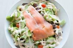 Smoked salmon salad Royalty Free Stock Photos