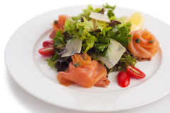 Smoked salmon salad Royalty Free Stock Photos
