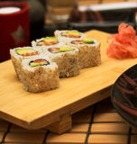 Smoked salmon salad with tuna and prawns Stock Photo