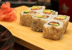 Smoked salmon salad with tuna and prawns Stock Images