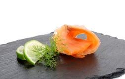 Smoked salmon. D  on white background Royalty Free Stock Photos