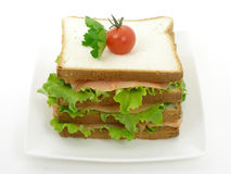 Smoked salmon sandwich Royalty Free Stock Photography