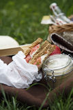 Smoked salmon sandwich with cream cheese Royalty Free Stock Photography
