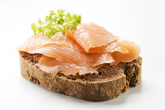 Salmon sandwich Stock Images