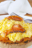 Smoked Salmon and Scrambled Egg Royalty Free Stock Image
