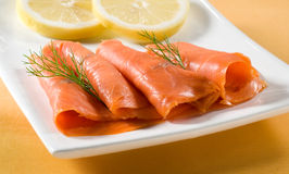 Smoked salmon Stock Photography