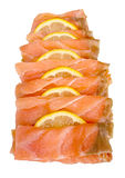 Smoked salmon slices Stock Photography
