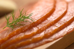Smoked Salmon Slices Royalty Free Stock Photography