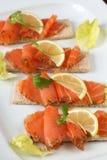 Smoked salmon snacks Royalty Free Stock Photo