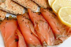 Smoked salmon starter Royalty Free Stock Photography