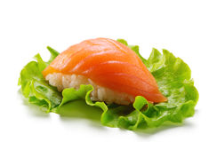 Smoked Salmon Sushi Royalty Free Stock Photo