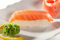 Smoked Salmon Sushi Stock Image