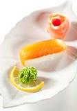 Smoked Salmon Sushi Stock Photo