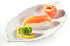 Smoked Salmon Sushi Royalty Free Stock Image