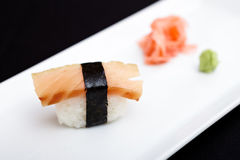 Smoked salmon sushi Stock Photos