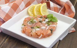 Smoked salmon tartare Royalty Free Stock Photos