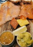 Smoked salmon a taste of norway stock photography