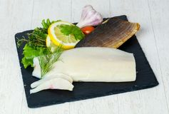 Smoked salted Whitefish. With spices Stock Photo