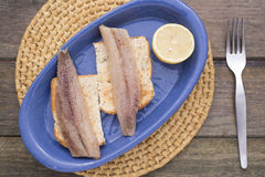 Smoked sardines Stock Photography
