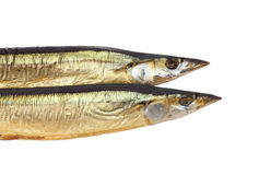Smoked Saury Royalty Free Stock Photos