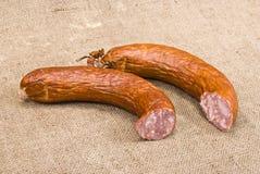 Smoked sausage Stock Images