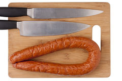 Smoked sausage Royalty Free Stock Photo