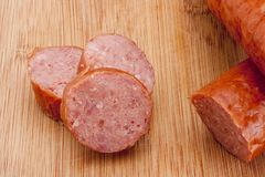 Smoked sausage Royalty Free Stock Photos