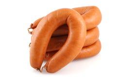 Smoked sausage. Royalty Free Stock Images