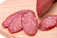 Smoked sausage close up Royalty Free Stock Image