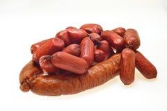 Smoked sausage Royalty Free Stock Photography