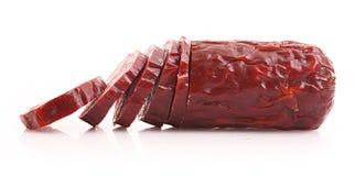 Smoked sausage isolated Stock Photography