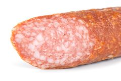 Smoked sausage isolated Royalty Free Stock Photo