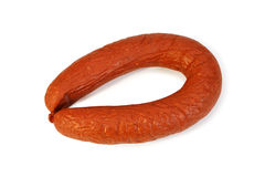 Smoked sausage Krakovskaya Royalty Free Stock Photo