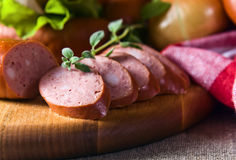 Smoked sausage Stock Photo