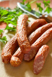 Smoked sausage Royalty Free Stock Image