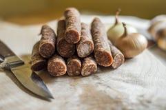 Smoked sausage Royalty Free Stock Photo