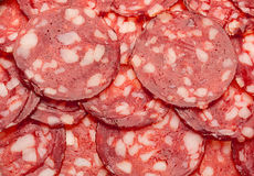 Smoked sausage slice Royalty Free Stock Photography