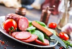Smoked sausage Stock Photo