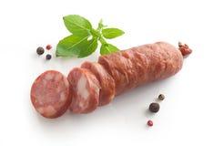 Smoked sausage Royalty Free Stock Photos