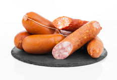 Smoked sausage on a string. Stock Image
