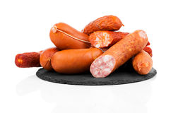 Smoked sausage on a string. Stock Photography