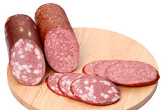 Smoked sausage (Two varieties) Stock Photography