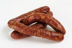 Smoked sausages Stock Images